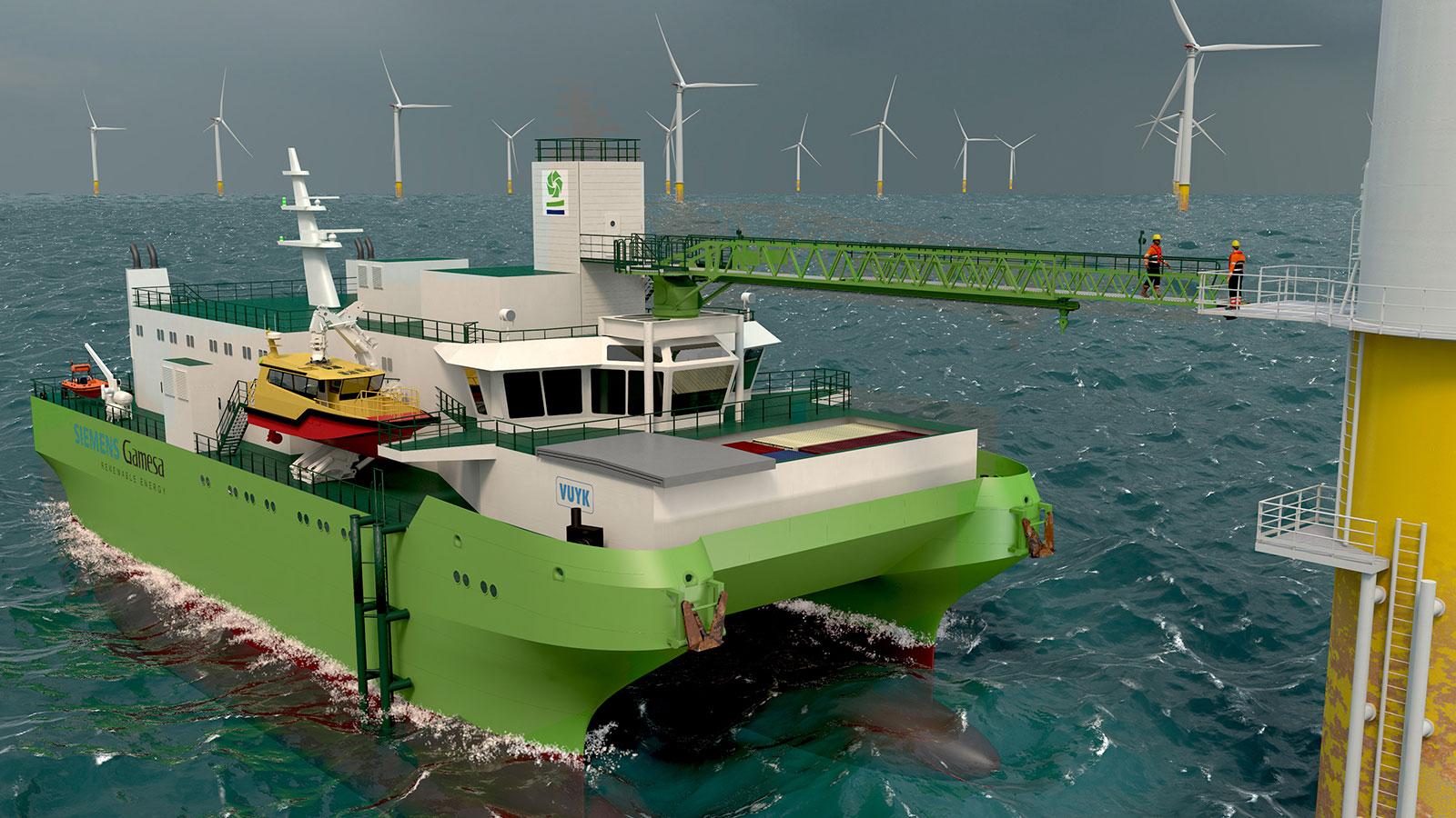 Image of Vuyk Engineering Rotterdam designs first SWATH type SOV for DEME